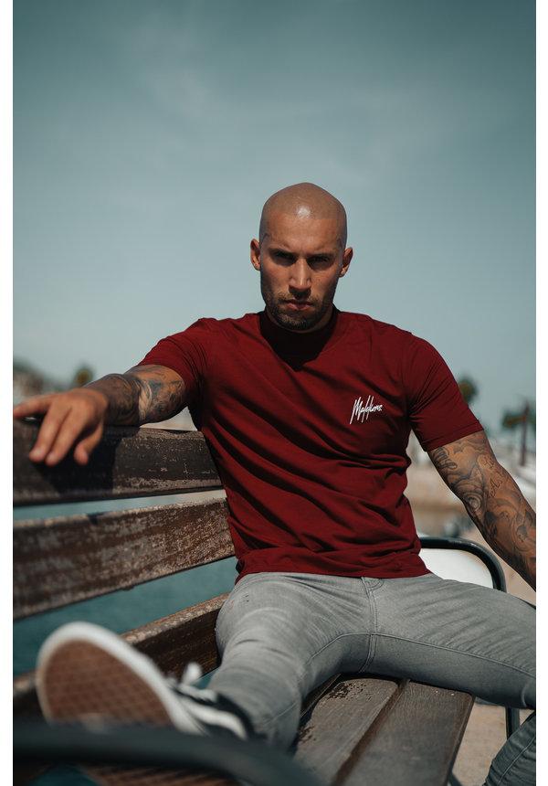 Malelions MM-AW20-1-6 Turtle T-shirt Bordeaux