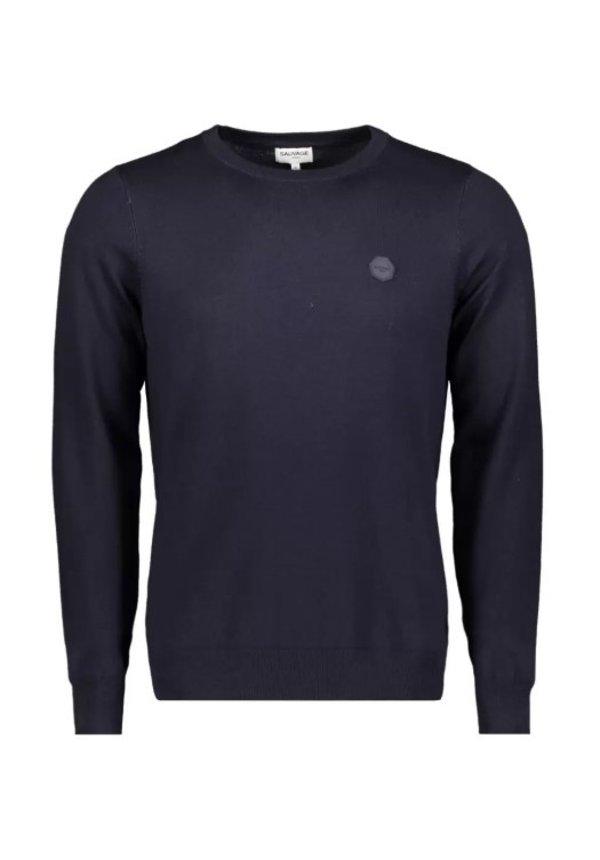 Sauvage Longsleeve Knitwear Seth SMFW-0104 Dark Blue