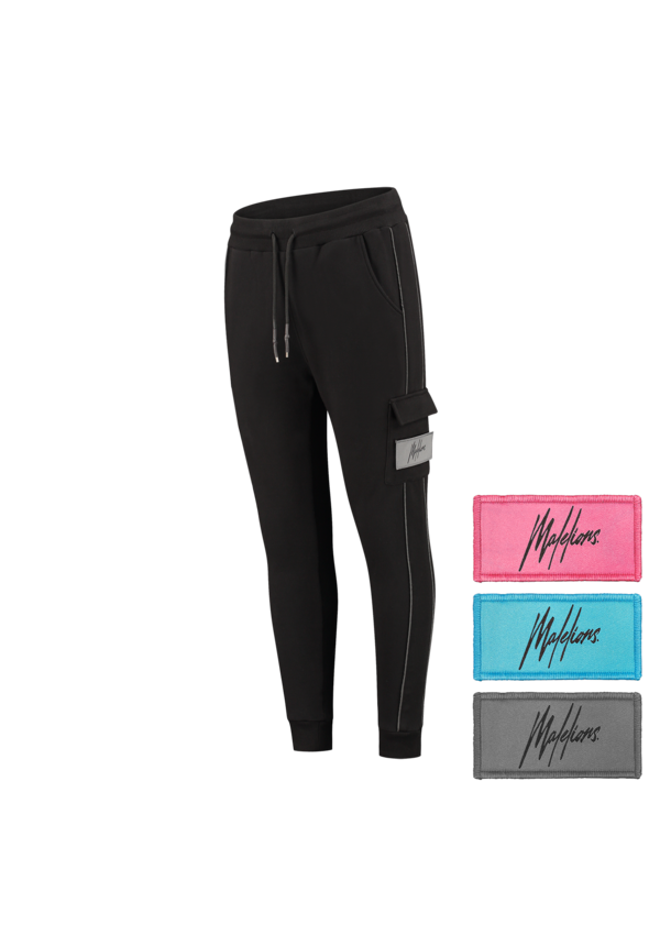 Malelions Velcro Trackpants Black