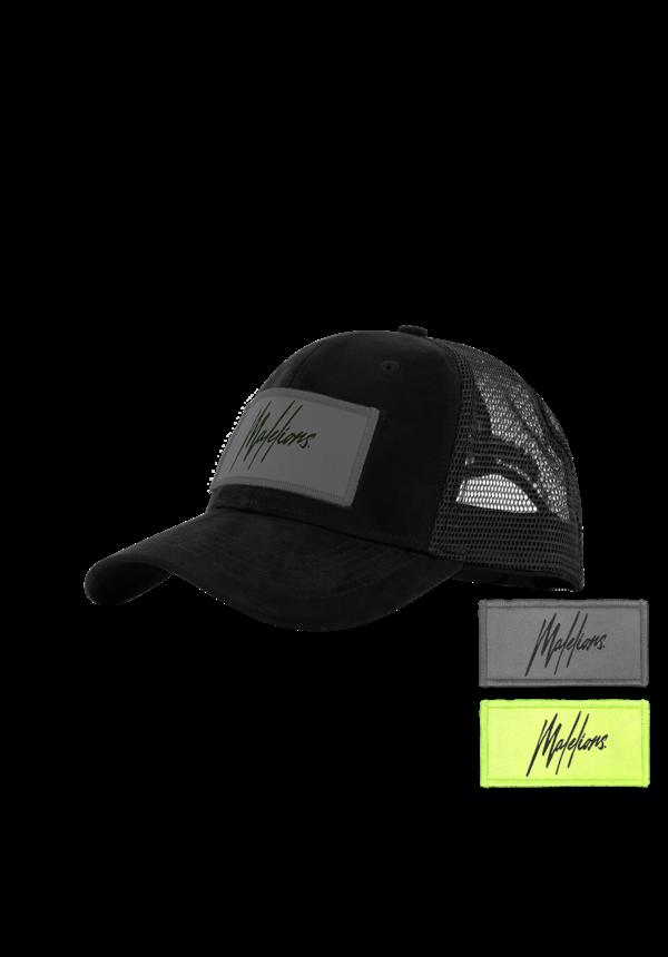 Malelions Velcro Patch Cap Black Suede