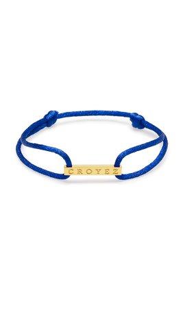 Croyez Croyez Satin Cord Croyez Logo Blue Gold