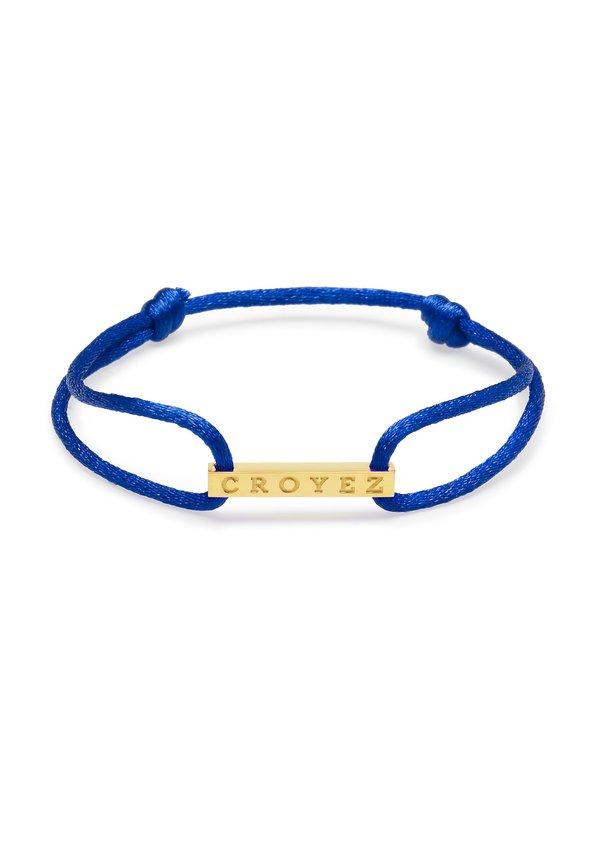 Croyez Satin Cord Croyez Logo Blue Gold