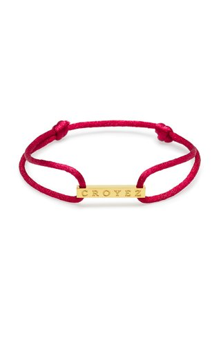 Croyez Croyez Satin Cord Croyez Logo Red Gold
