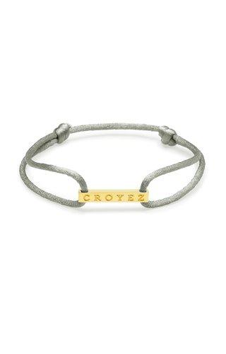 Croyez Croyez Satin Cord Croyez Logo Grey Gold