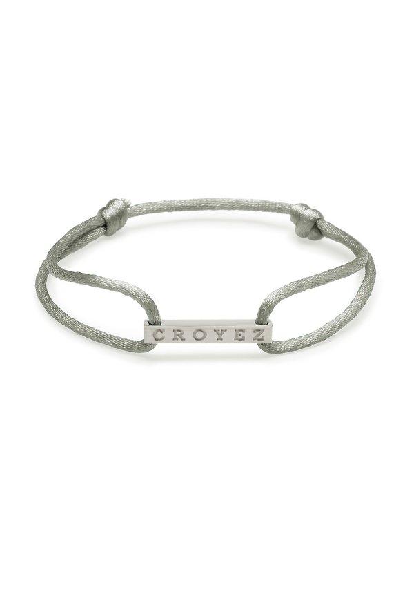 Croyez Satin Cord Croyez Logo Grey Silver