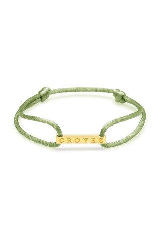 Croyez Croyez Satin Cord Croyez Logo Green Gold