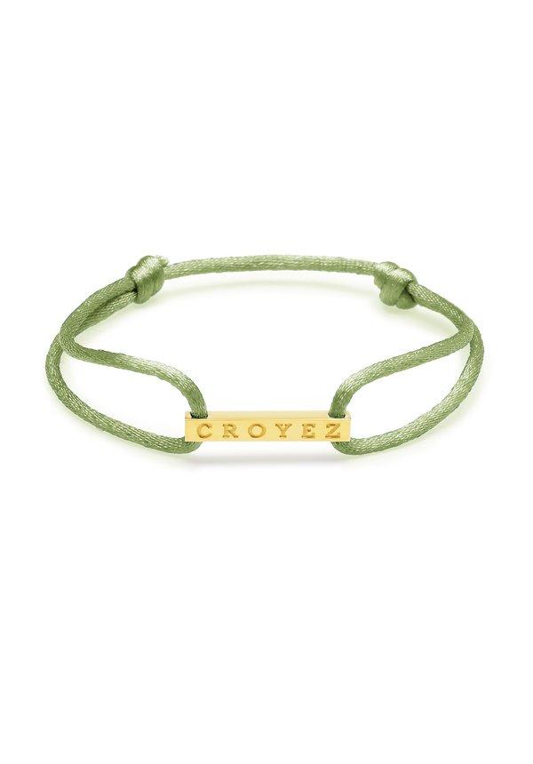 Croyez Satin Cord Croyez Logo Green Gold