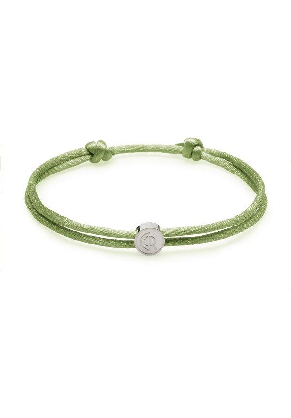 Crozey Satin Cord Green Silver