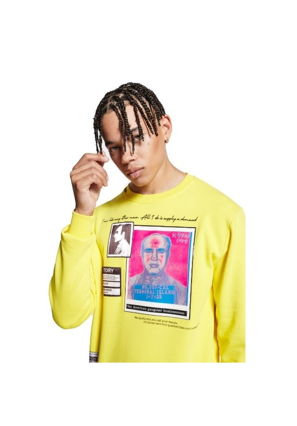Wiki Alcapone Sweater 1-Y20-005-A-0026 yellow