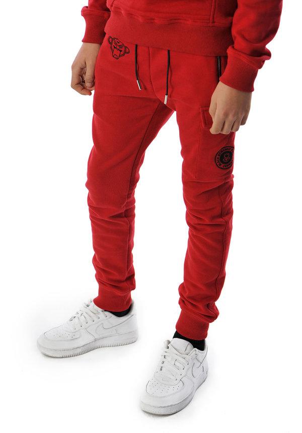 Black Banans JR Fleece Jogger Red