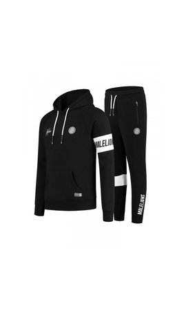 Malelions Malelions Sport Captain Tracksuit MS-AW20-1-7 Black-White