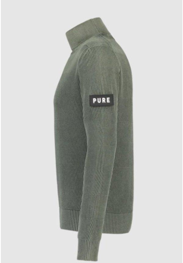 PureWhite FW20 Army Green Ribbed Coltrui