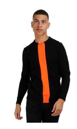 Antony Morato Antony Morato Sweater Orange MMSW01134 Black