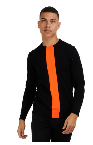 Antony Morato Antony Morato Sweater Orange MMSW01134 Black