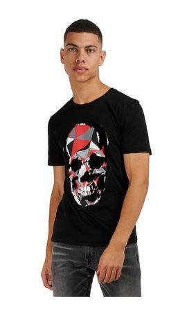 Antony Morato Antony Morato MMKS01867 Skull Tshirt zwart
