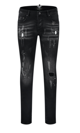 Elegante Elegante  Black Denim Destroy