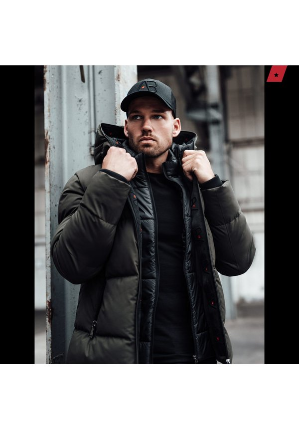 AB-LIFESTYLE Hooded Down Jacket -Leger Groen -