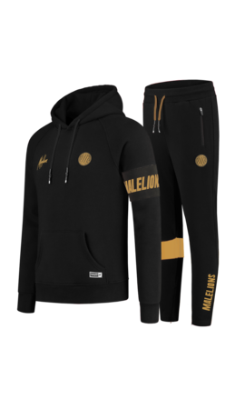 Malelions Malelions MS-AW20-1-7 Sport Captain Tracksuit  Black - Gold