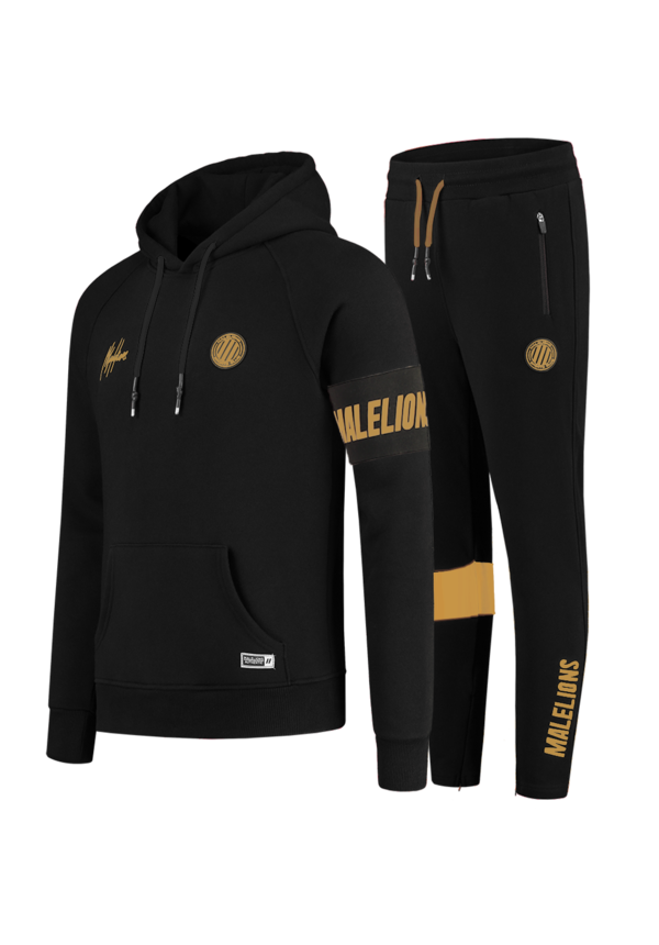 Malelions MS-AW20-1-7 Sport Captain Tracksuit  Black - Gold
