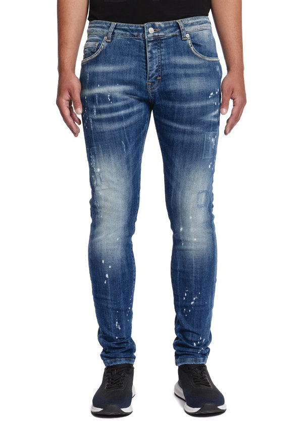 My brand Denim Bleached White Spotted Jeans