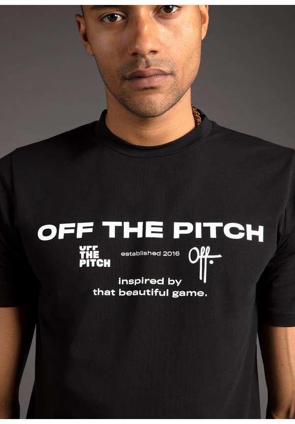 Off The Pitch The Sage Tee Black
