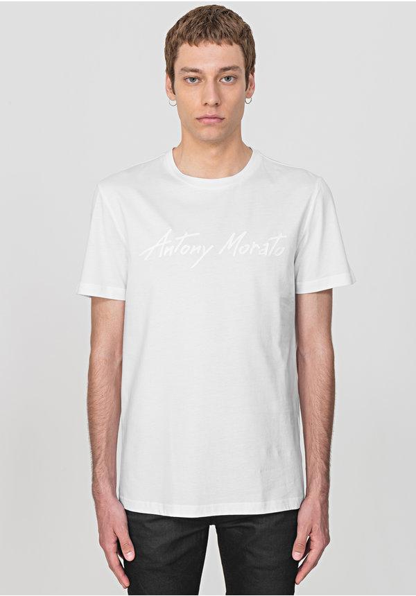 Antony Morato Tshirt SS20 MMKS01858 Logo Wit