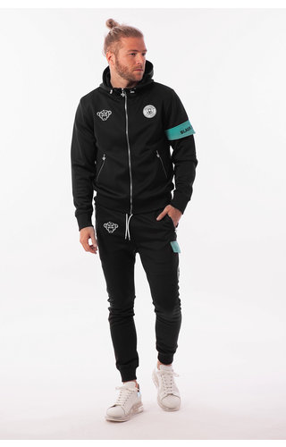 Black Bananas Black Bananas Captain Tracksuit Black/Mint