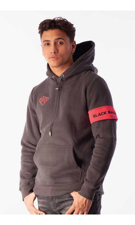Black Bananas Black Bananas FW2020/045 Captain Hoody Dark Charcoa /Pink