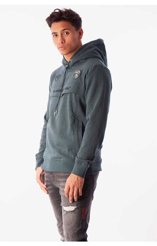 Black Bananas Black Bananas Anorak Hoody Petrol Green
