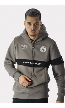 Black Bananas Black Bananas Anorak Captain Hoody Grey