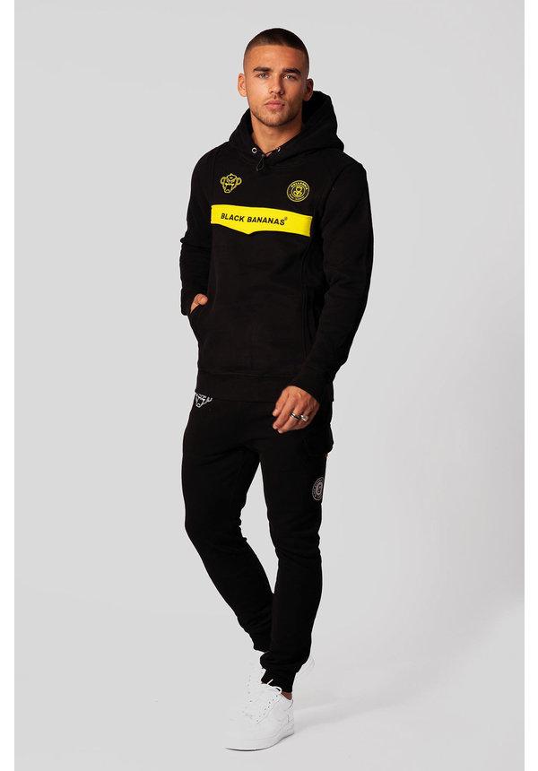 Black Bananas Anorak Neon Hoody Black/Yellow