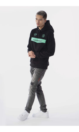 Black Bananas Black Bananas Anorak Neon Hoody Black/Mint
