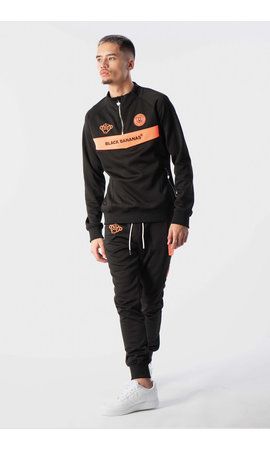 Black Bananas Black Bananas Anorak Neon Tracksuit Black/Orange