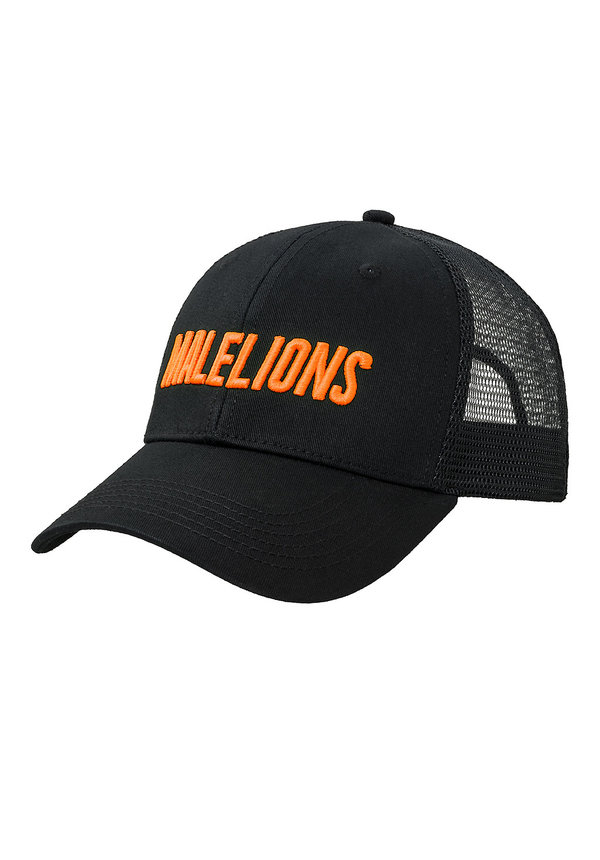 Malelions Cap Black-Neon Orange