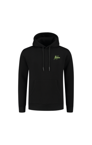 Malelions Malelions Double Signature Hoodie Black-Yellow