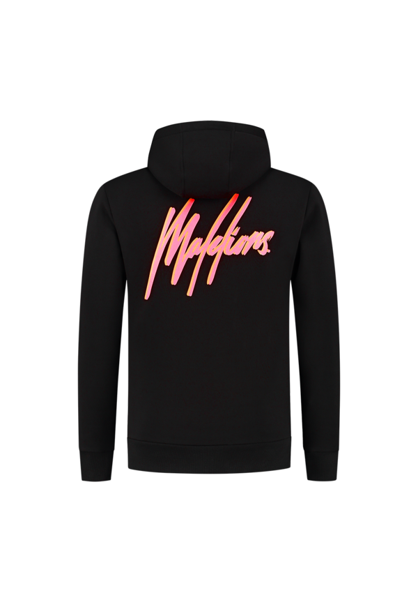 Malelions Double Signature Hoodie Black-Red