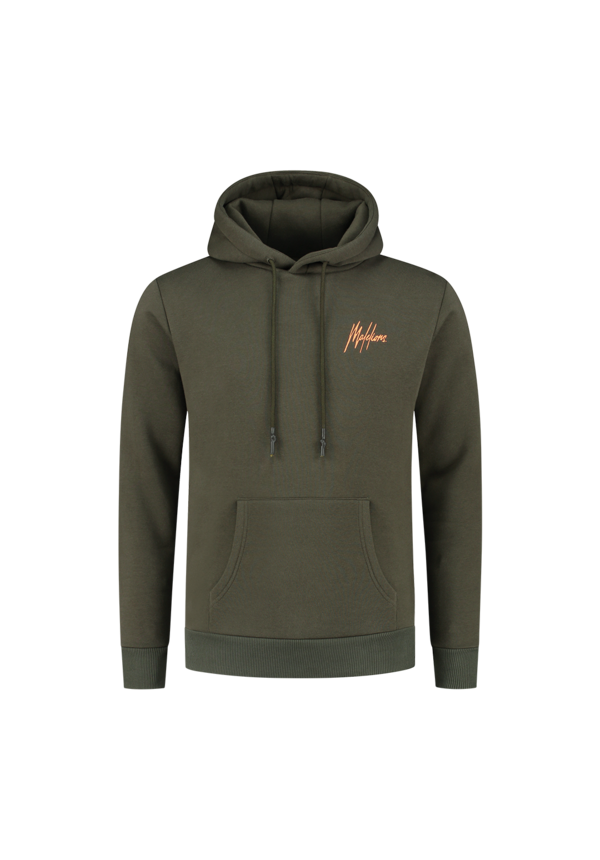 Malelions Double Signature Hoodie Army-Orange