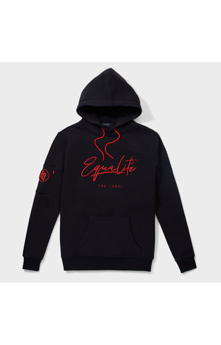 Equalité Signature Hoodie Black & Red