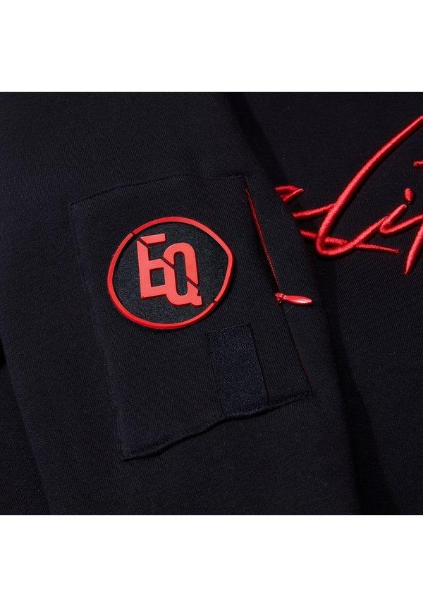 Signature Hoodie Black & Red