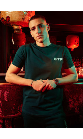 Off The Pitch OTP Outline Tee Dark Green