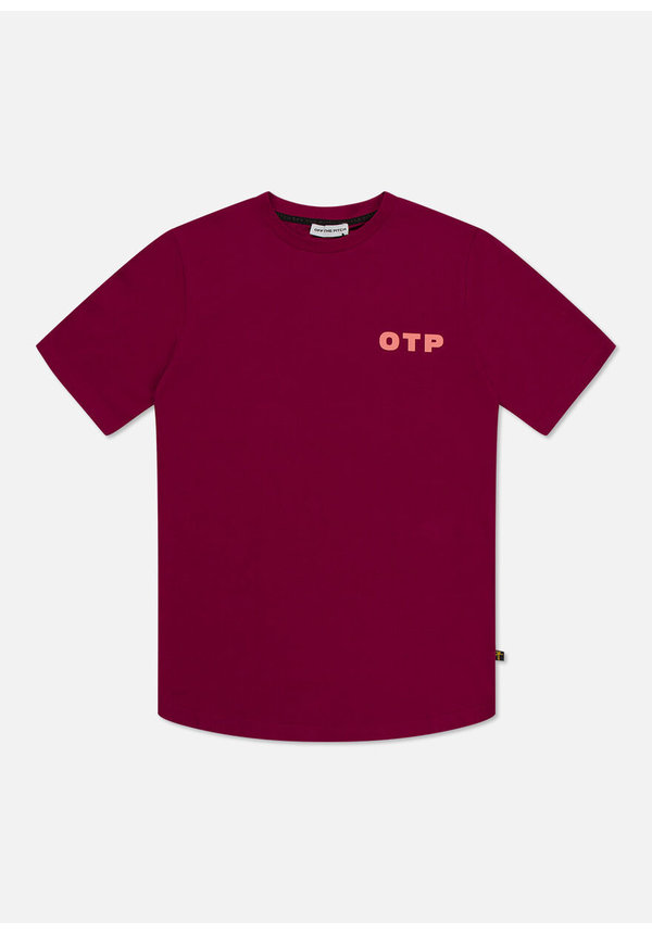 OTP Outline Tee Dark Red