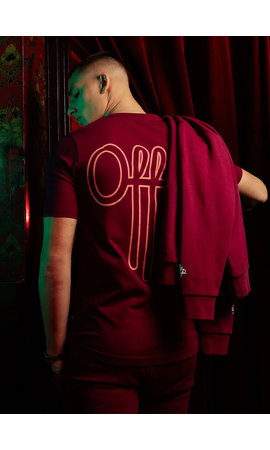 Off The Pitch OTP Outline Tee Dark Red