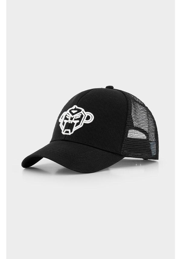 Jr. Wavy Trucker Cap Black