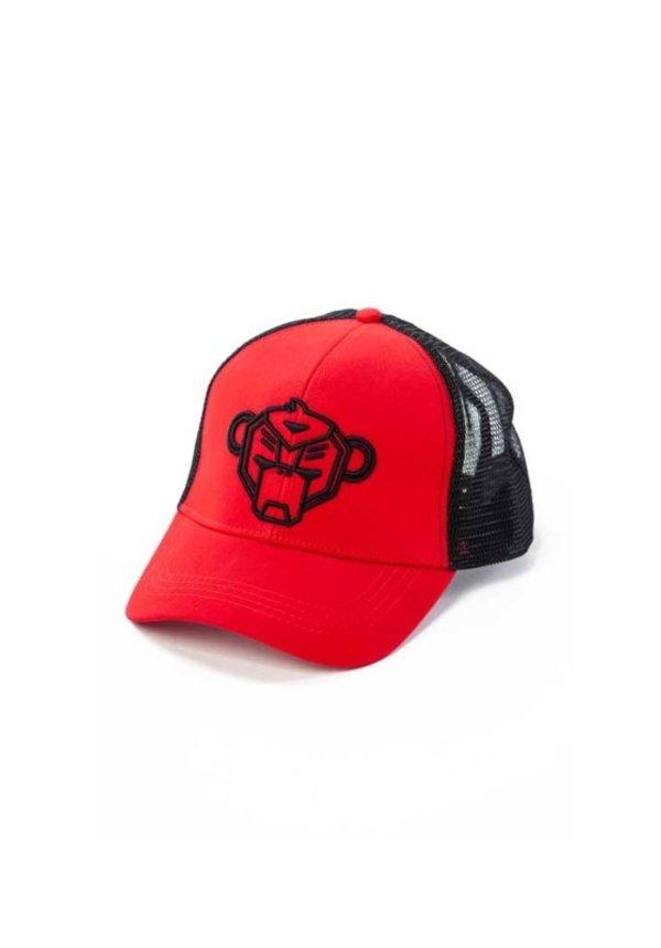Jr. Wavy Trucker Cap Red