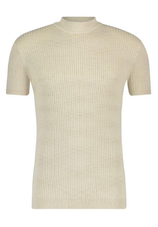 SS21 21010823 Hals T-Shirt Ribbel Sand