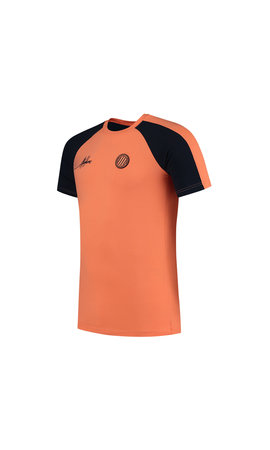 Malelions Sport Striker T-shirt Navy-Salmon