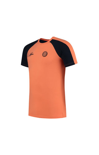 Malelions Sport Striker T-shirt Navy-Salmon