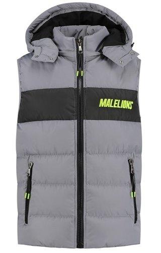 Malelions Sport Nium Bodywarmer Grey-Lime