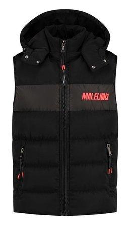 Malelions Sport Nium Bodywarmer Black-Neon-Red