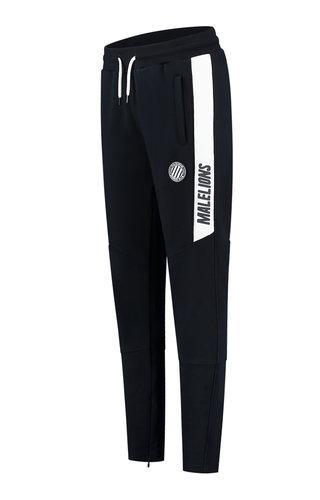 Malelions Sport Coach Trackpants Dark-Navy - White
